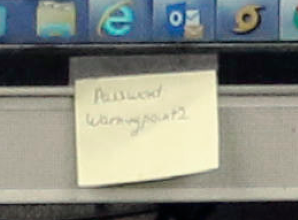 The Post-It note password