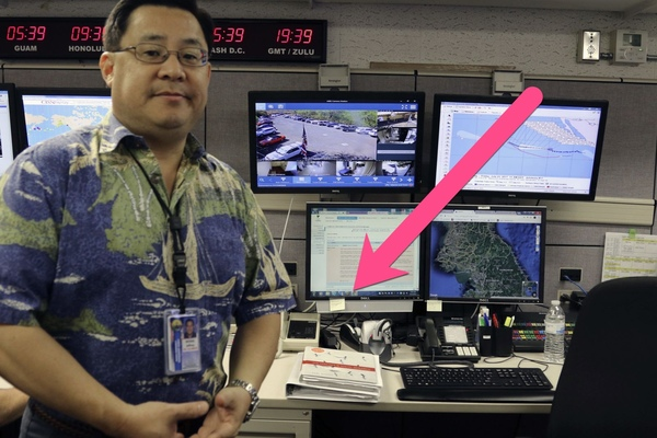 A public photo showing Hawaii's emergency management agency