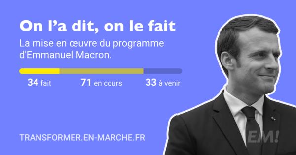 7. Emmanuel Macron zeigt transparent, welche Wahlkampfversprechen er schon umgesetzt hat