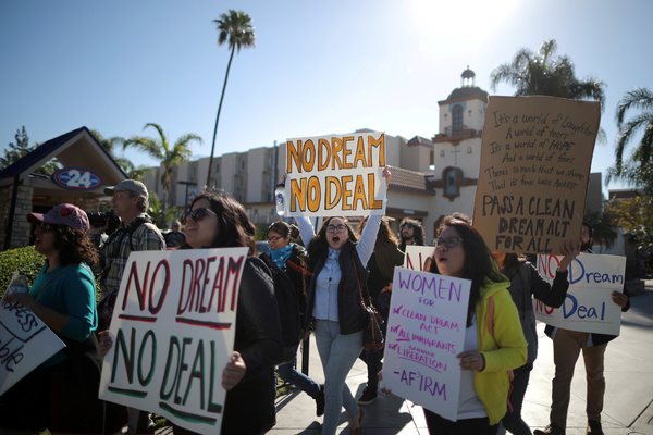 Dreamers demonstreren in Californië voor een permanente status (foto: Reuters)