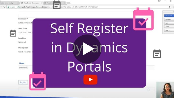 Allowing users to self register in Dynamics Portals - YouTube