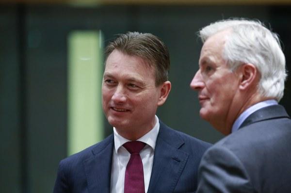Minister Zijlstra en  EU-onderhandelaar Barnier
