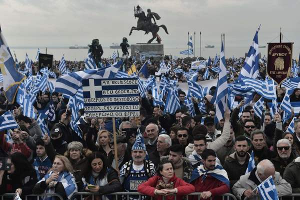 Demonstraties tegen Macedonië in Grieks Macedonië
