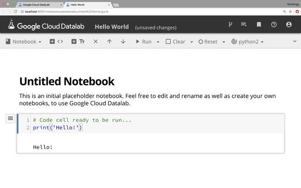 A Google Cloud Datalab notebook.