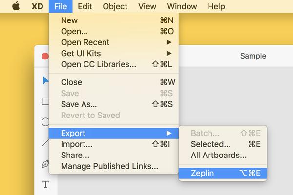 Adobe XD'nin export seçenekleri