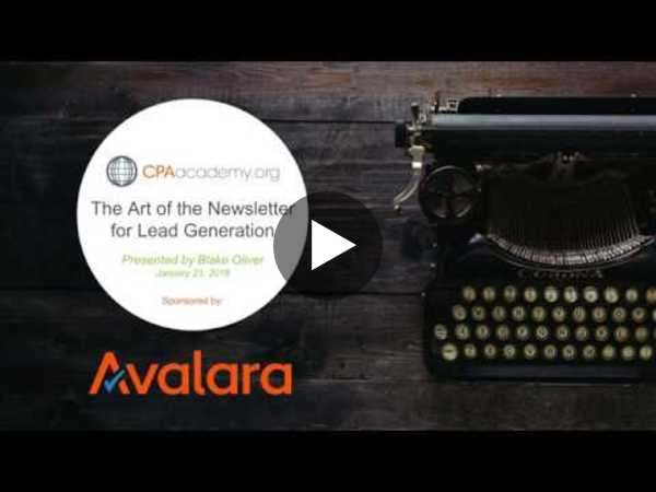 The Art of the Newsletter for Lead Generation - YouTube