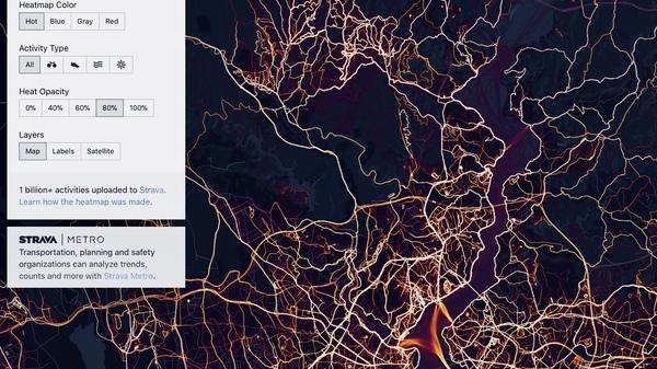 İstanbul'un sporcularının ısı haritasından bir kare
