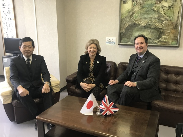 With Principal Shoji-san at Miyagi First Senior High School