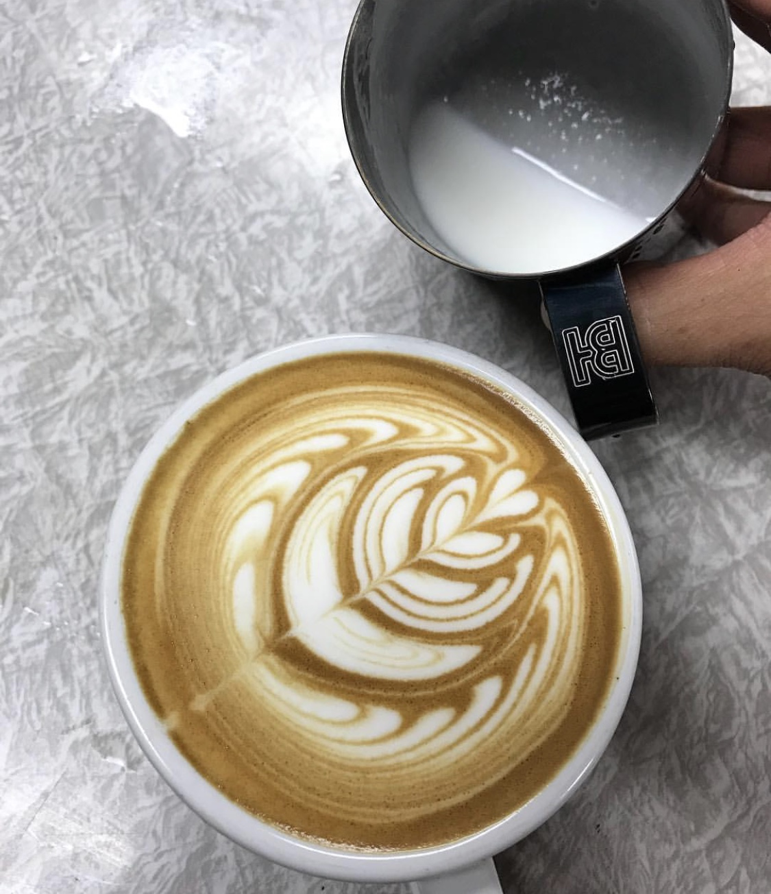 Peep this beautiful Precision Milk Pitcher pour by @72transformations!