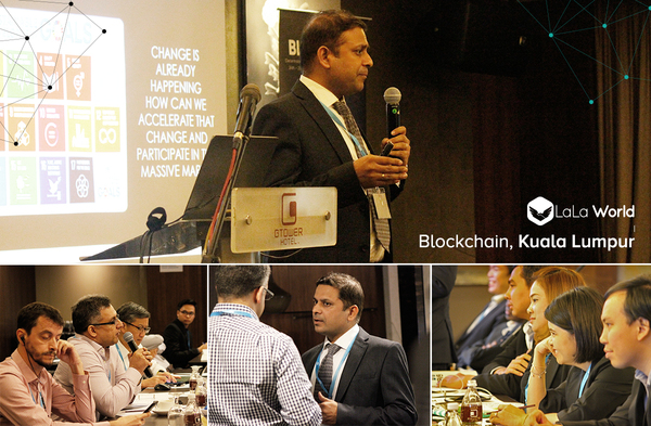 Our CRO - Ranjit Kumar Interacting with the Blockchain Community