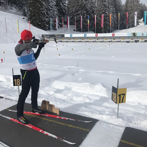 Biathlon Training in Lenzerheide, Switzerland
