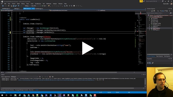 Raise The Bar - 002 - Refactoring Security Role Members XTB Plugin Part 2 - YouTube
