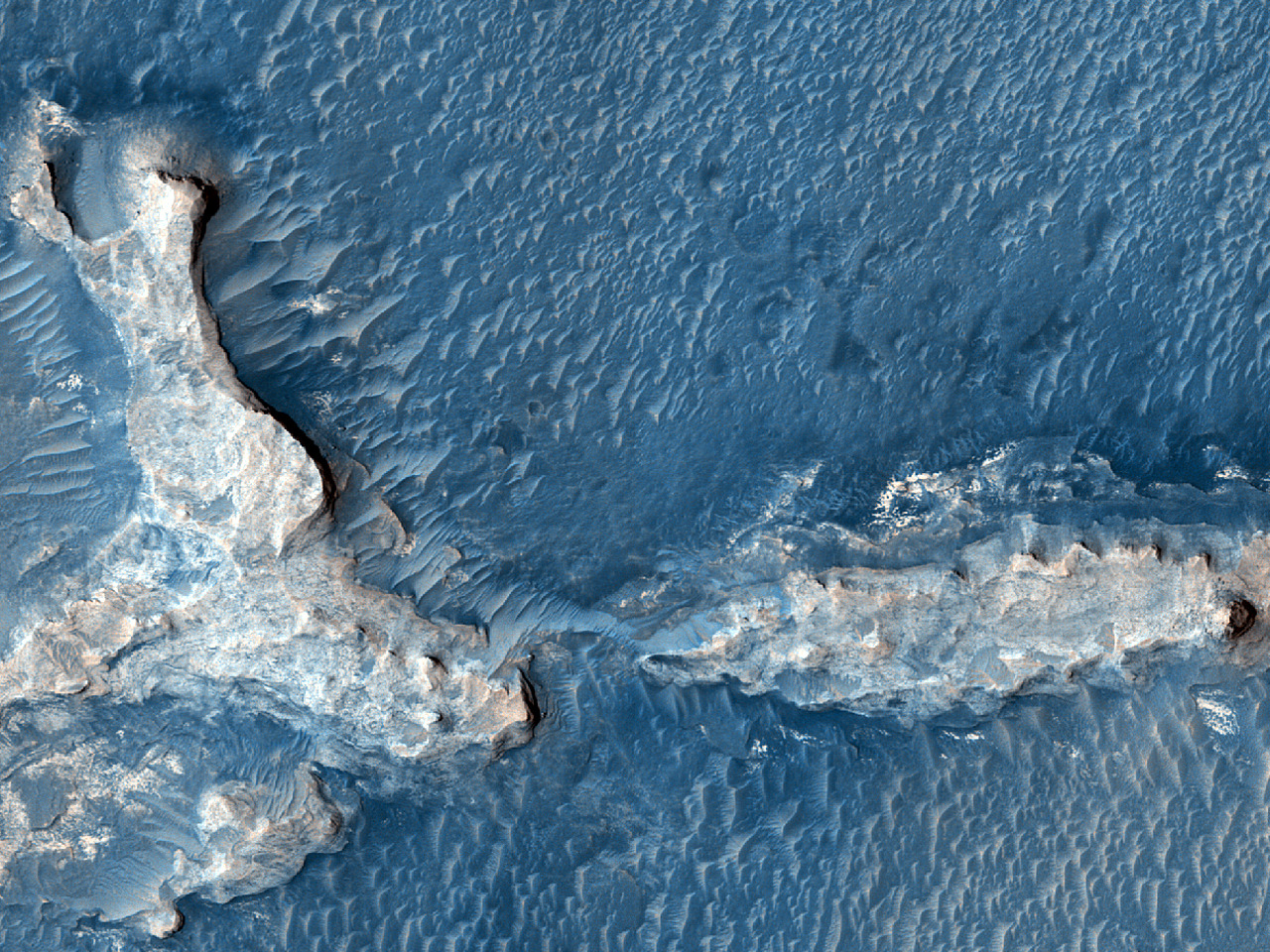 Etched Terrain in Meridiani Planum