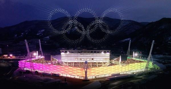 Die Drohnenshow bei der Eröffnungsfeier war die bislang größte überhaupt