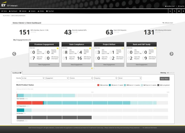 EY Interact - Client Dashboard
