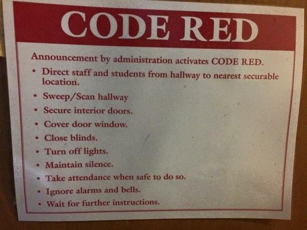 Dit bericht hang op alle muren in de school van mijn kinderen