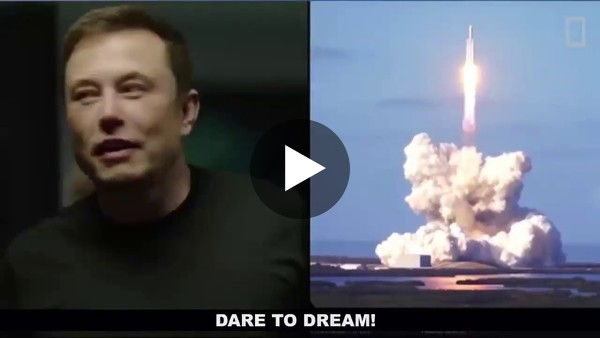 Elon Musk Falcon Heavy Launch Inspirational! - Mars Anthem