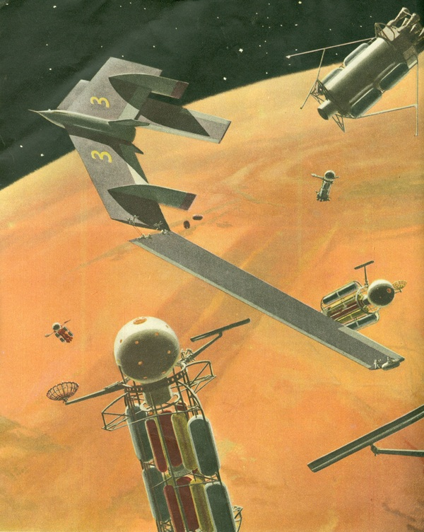 Getting to Mars, as envisioned by Wernher von Braun on 1954