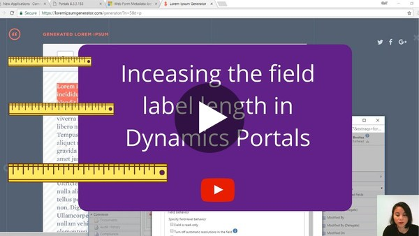 Increasing the Field Label in Dynamics Portals - YouTube