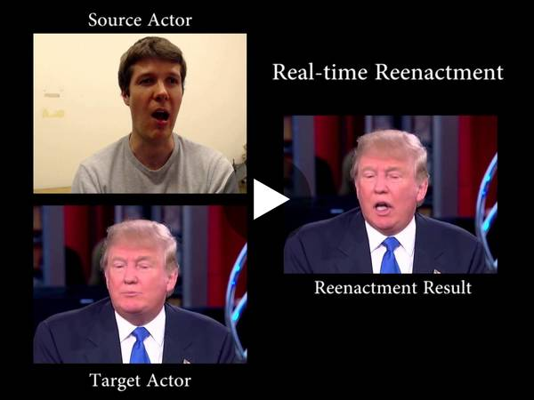 Face2Face: Real-time Face Capture and Reenactment of RGB Videos (CVPR 2016 Oral) - YouTube