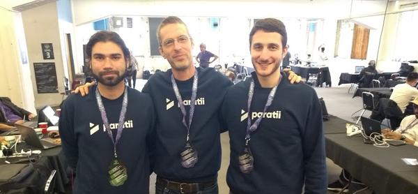 Part of the Paratii crew in ETHDenver.