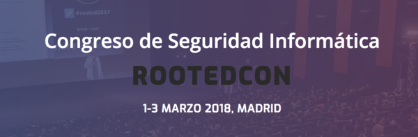 ROOTEDCON  1-3 MARCH 2018