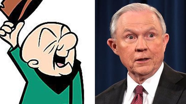 """Trump geeft graag beledigende bijnamen aan zijn tegenstanders. Volgens de Washington Post noemt Trump zijn minister van Justitie spottend """"Mr. Magoo"""", een tekenfilmkarakter (foto: Reuters)"""