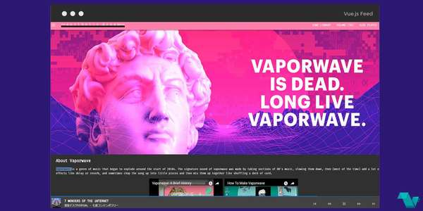 Project Helios: Vaporwave music website powered by Vue.js