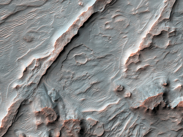 Alluvial fans on Mars, via HiRISE