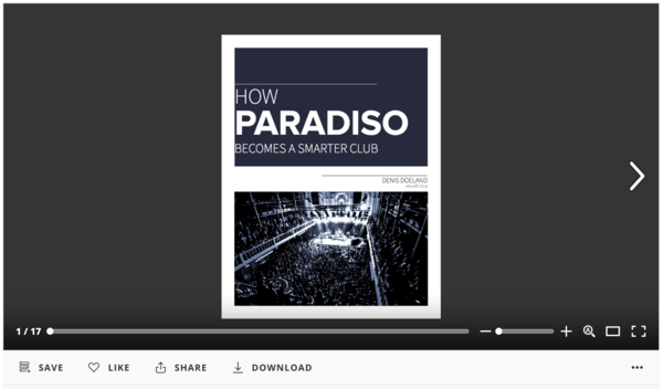 How Paradiso becomes a smarter club