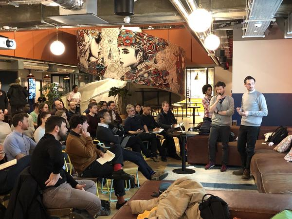 Participating in the Design Sprint meetup at WeWork last night (📷 by Richard )