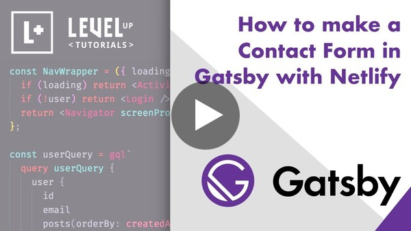 How to make a Contact Form in Gatsby with Netlify - YouTube