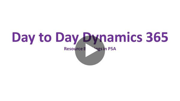 Dynamics 365 Project Service Automation - Booking resources on a Project - YouTube