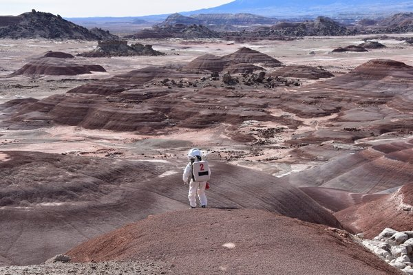 Simulated EVA mission near the MDRS in southern Utah
