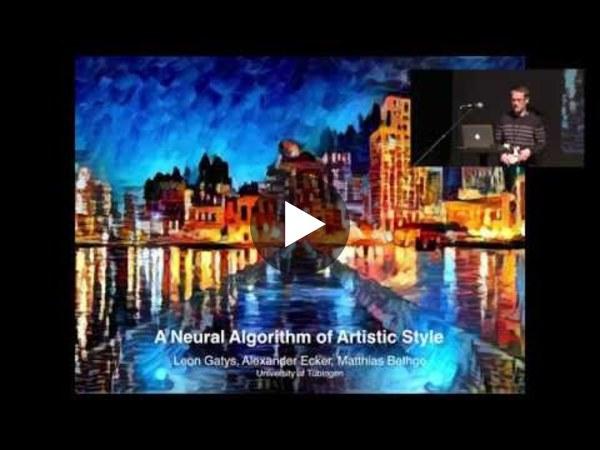 Leon Gatys shares a neural algorithm of artistic style - YouTube