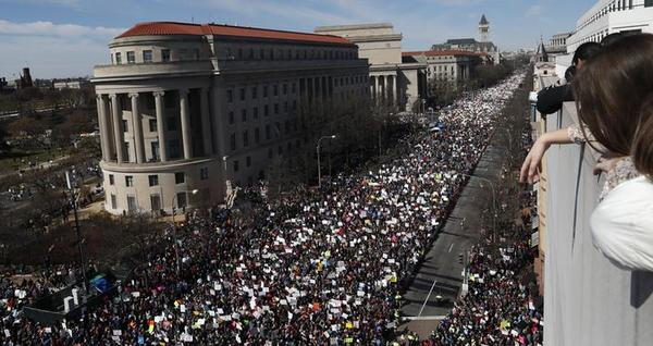 De March for Our Lives in Washington, DC (foto: Reuters)