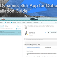 Microsoft Dynamics 365 App for Outlook Quick Installation Guide