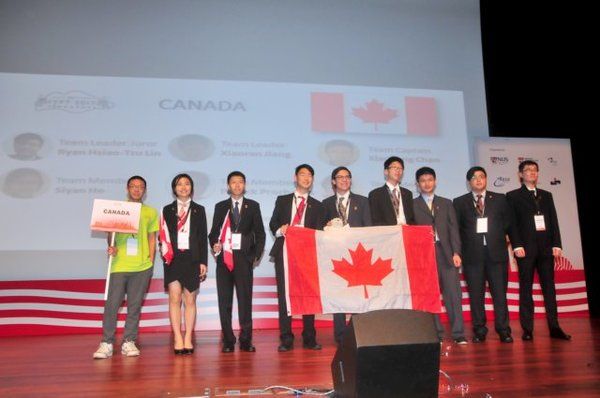 Canada's team at the International Young Physicists' Tournament 2017