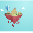 Floating Island SVG Animation