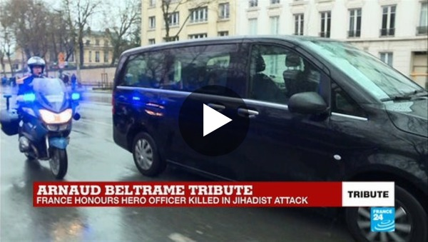 Nationale ceremonie ter ere van Arnaud Beltrame