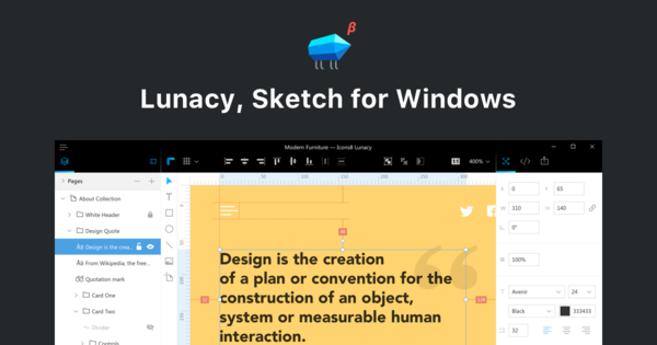 Lunacy, Sketch for Windows