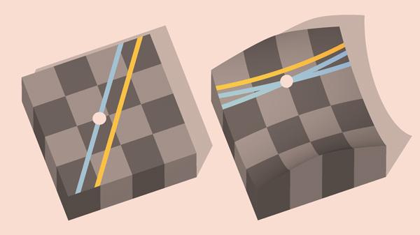 Изображение из википедии по запросу «геометрия Лобачевского»