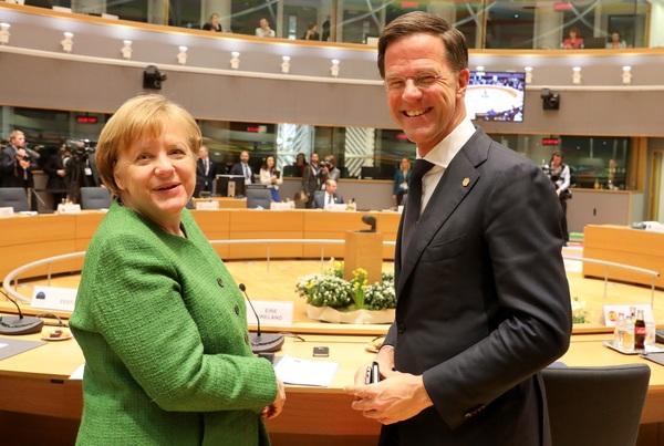 Angel Merkel en Mark Rutte