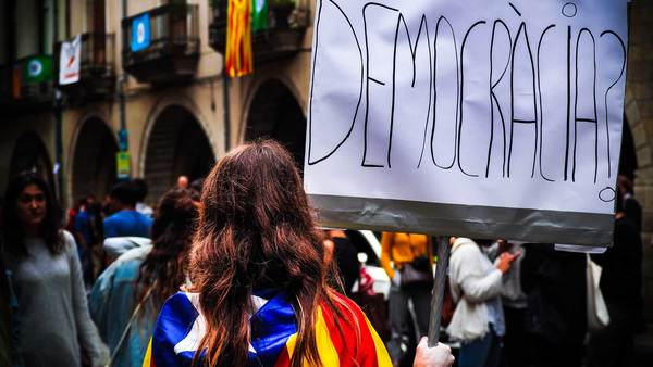 Demonstratie in Barcelona, november 2017 (Foto: Marc Sendra)