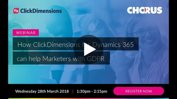 How ClickDimensions can help Marketers with GDPR - YouTube