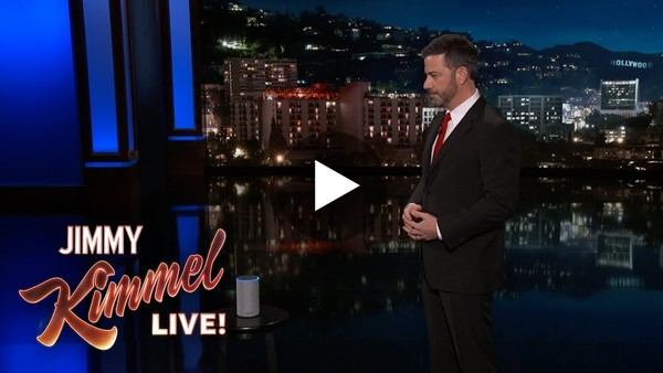 Jimmy Kimmel Gets to the Bottom of Alexa's Creepy Laugh - YouTube