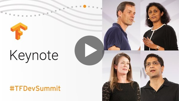 Tensorflow DevSummit 2018 Playlist: 20 videos from Eager Execution to how Coca Cola uses Tensorflow