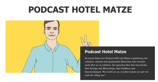 """Der Podcast """"Hotel Matze"""" mit Matze Hielscher und Gästen"""
