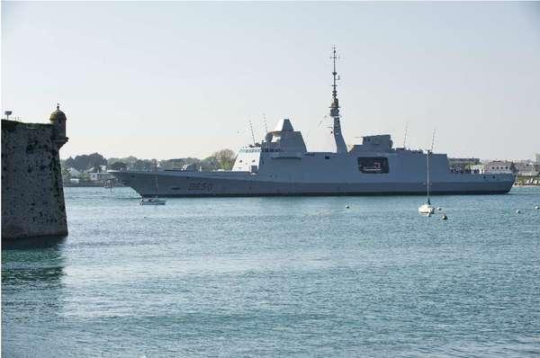 Het fregat 'Aquitaine' (foto: Min. Defensie)