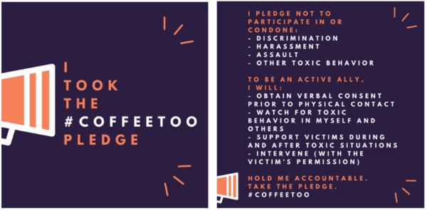 Take The #CoffeeToo Pledge Against Harassment
